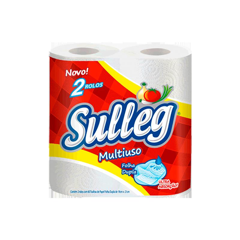 Papel Toalha de Cozinha - Sulleg - 12 un com 2 Rolos de 120 Folhas Cada