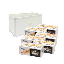 Kit Dispenser de Bancada + 6 Pacotes de Toalha Interfolha Folha Dupla - 40g
