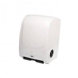 CÓD. 7520 - Dispenser Toalha Bobina Eletrônico - Branco/Auto Corte