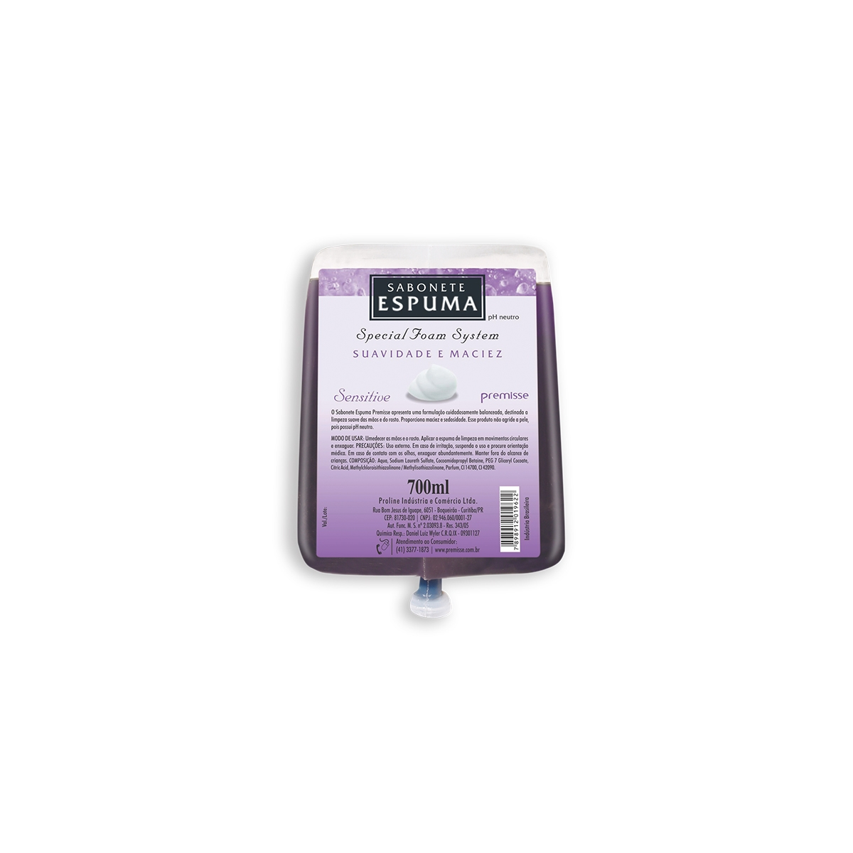 CÓD. 10202 - Sabonete Espuma Sensitive - 700 ML